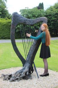 Inge van Grinsven - harp - Keadue, Ierland